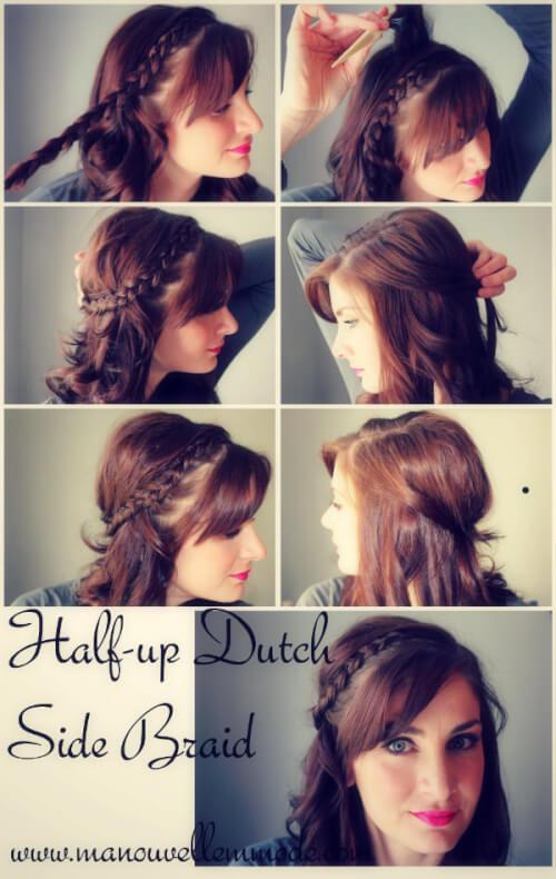 half up dutch braid