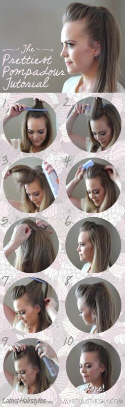 pompadour hair tutorial