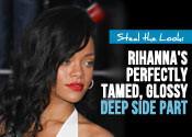 Rihanna-glossy-side-part