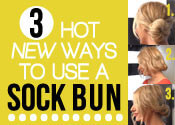 other ways to use a sock bun