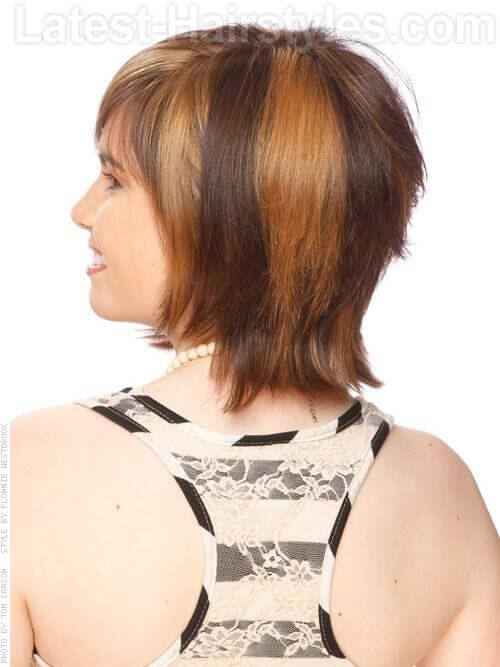 asymmetric short hairstyle for thick hair
