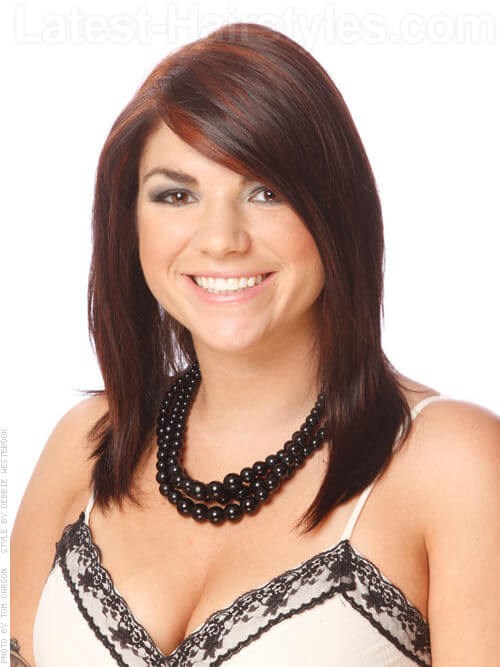 Auburn Accents Sweet Medium Length Brown Hair