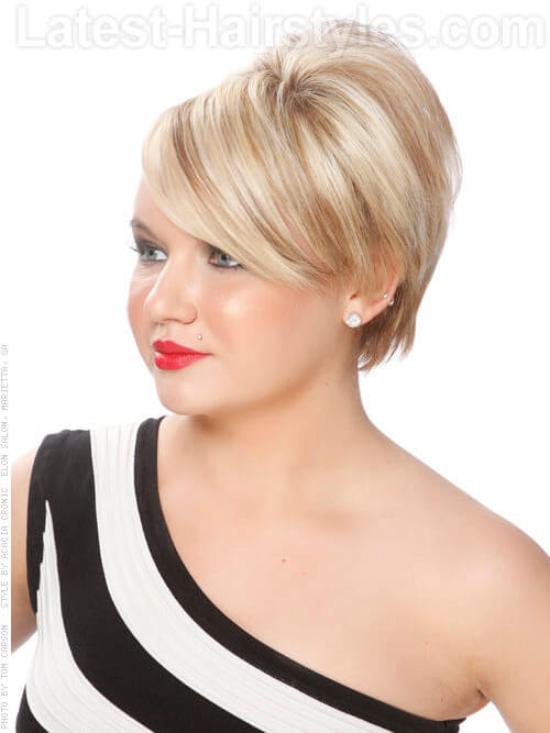 Beehive Blondie Cute Short Style with a Retro Flair Idea Side View