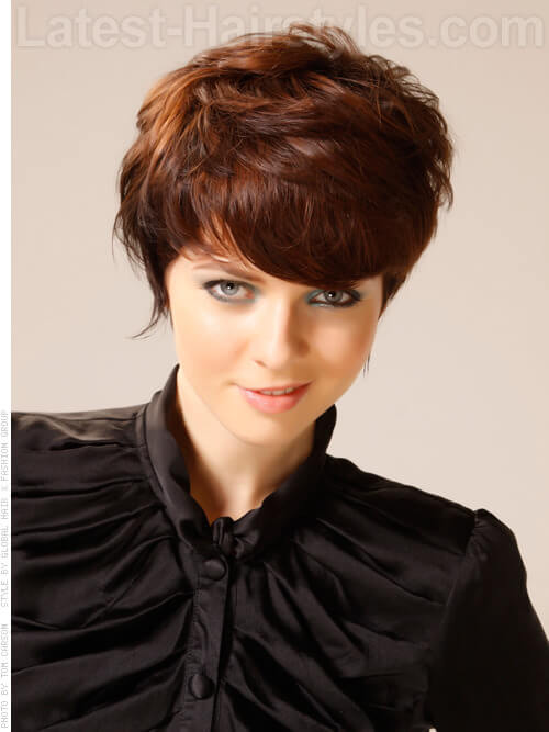 Caramel Brown Hair Ribbon Short Layered Look