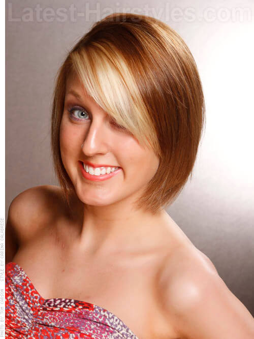 Related Pictures bob this stunning chin length bob pairs bold shade of ...