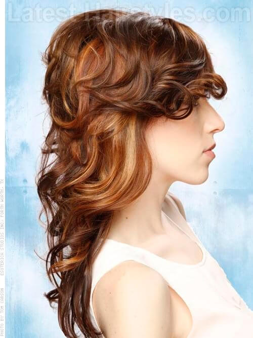 Complimentary Layered Hairstyle Side View