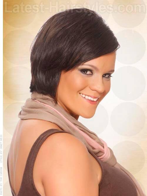 Deep Neutral Smooth Brown Hair Look Side View