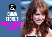 Emma Stone's beachy waves