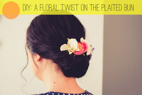 twisted floral inspired hairstyles