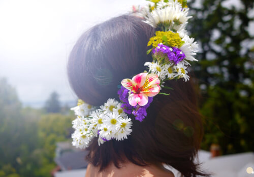 flower crown floral inspired hairstyle