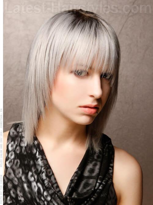 Fringe Layered Rocker Girl Cut
