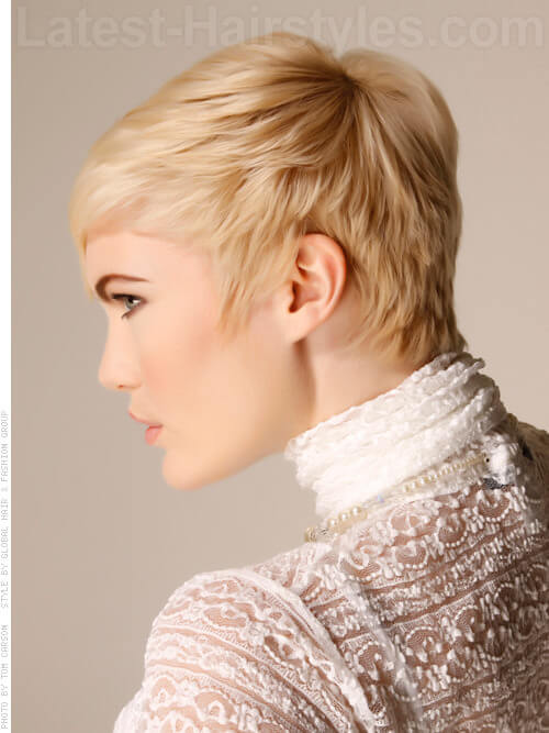 Golden Fur Platinum Blonde Look Side View