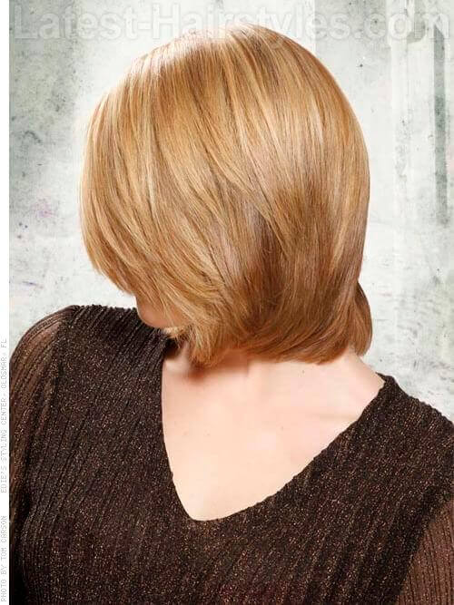 Layered Lass short hairstyle for thick hair Side View