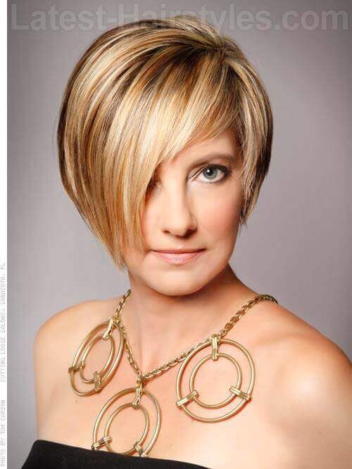 The prettiest short bob with long fringe