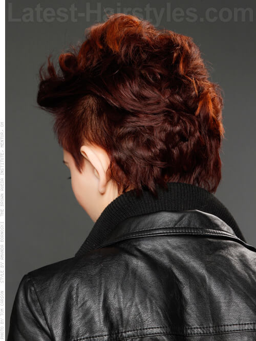 Moto Mania Red Hair Idea Back View