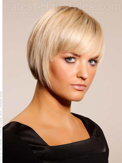 bob haircuts blonde