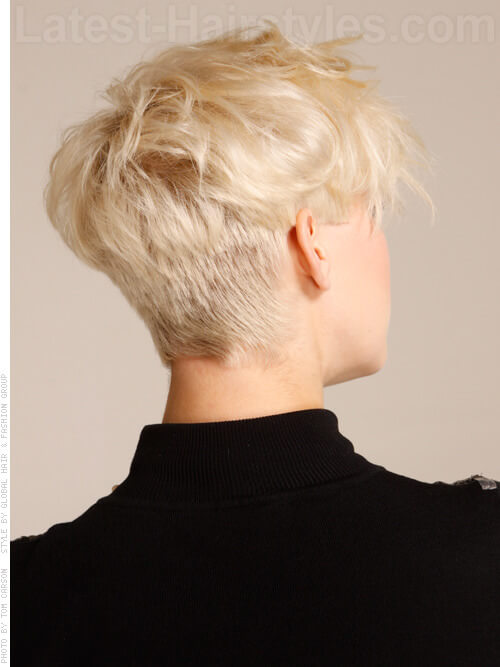 Short To Long Layered Hair Fun Blonde Look Back View