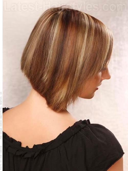 short bob haircut side