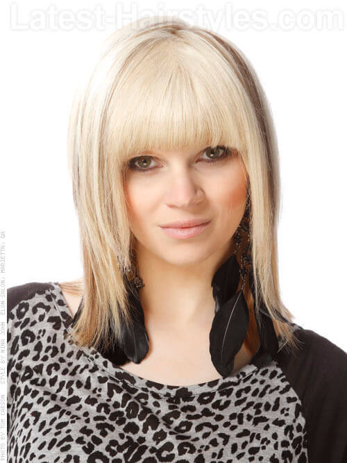Textured Layers with Bangs