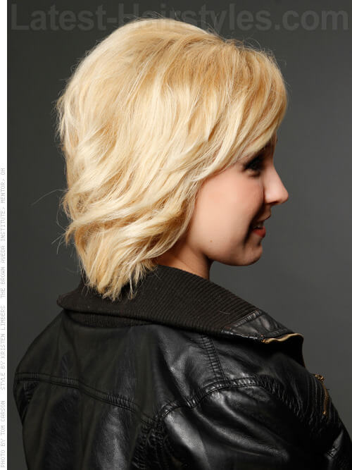 Tousled Layers Blonde Style Side View