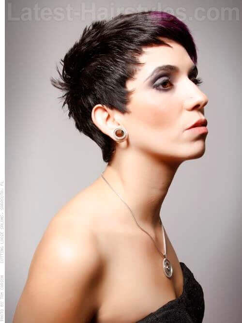 Ultra sassy pixie hairstyle for short hair