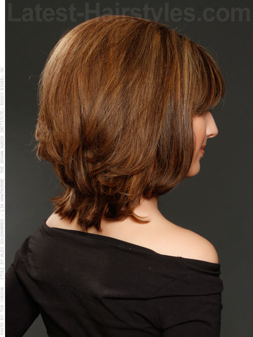 Volumized Vixen Short Style for Medium Hair Back View