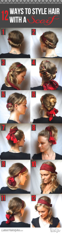 ways to style hair with a scarf