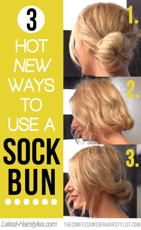 3 Hot New Ways to Use a Sock Bun