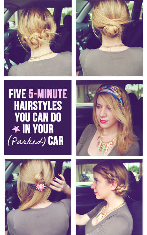 Terrific 5 Super Quick Amp Easy Hairstyles You Can Do In Your Parked Car Short Hairstyles Gunalazisus