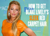 blake lively sleek hair