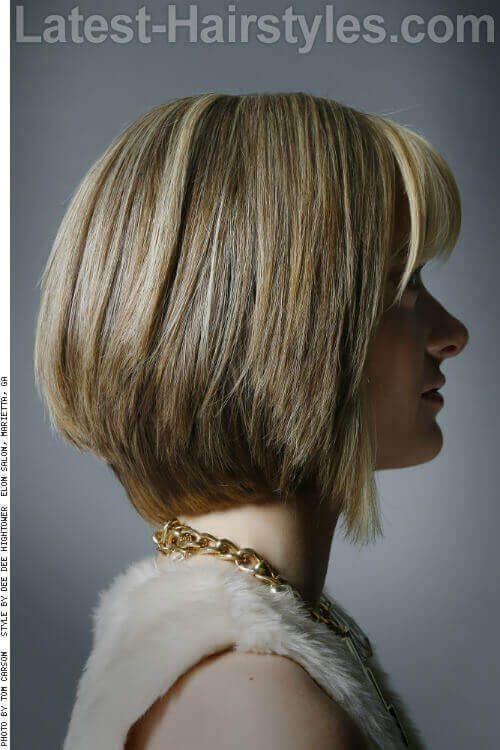 Blonde Bob with Bangs Side