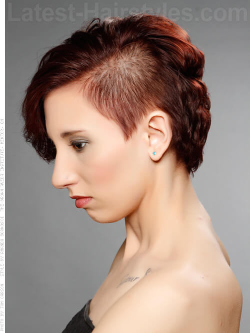 Pixie Wavy Bob with Undercut Side