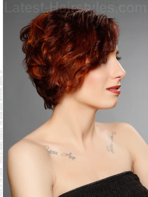 Pixie Wavy Bob with Undercut