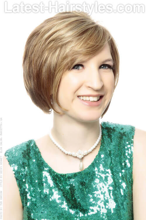 Short Layered Bob Hairstyle for Older Women