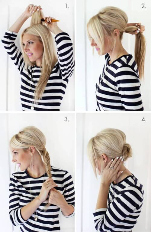 Fast fab 10 easy updos that will surprise everyone simple chignon updo pmusecretfo Image collections
