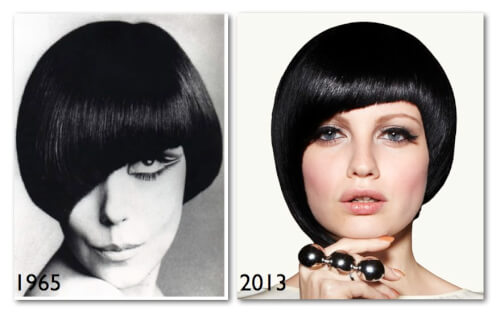Asymmetric Bob Fresh Take on a Sixties Look
