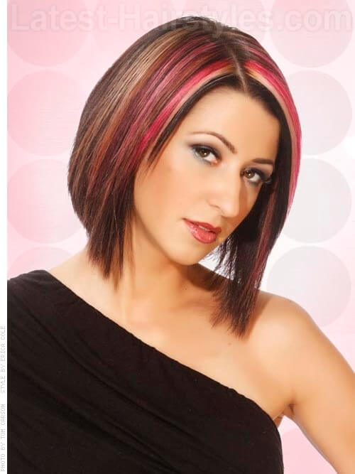 pink back to school hair highlights