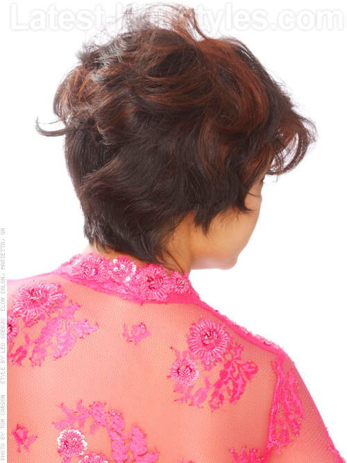 Dashing Diva Cute Windblown Look Back View