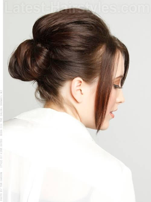 Day Three Hair Saver Cute Bun Back View with Wisps