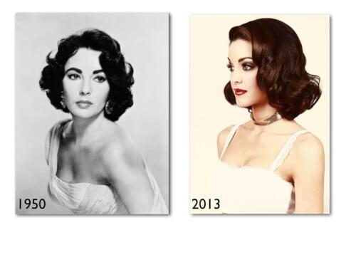 Elizabeth Taylor vintage hairstyles