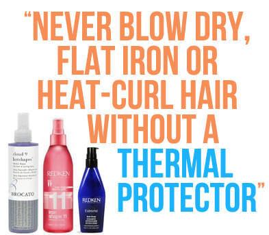 heat styling tip