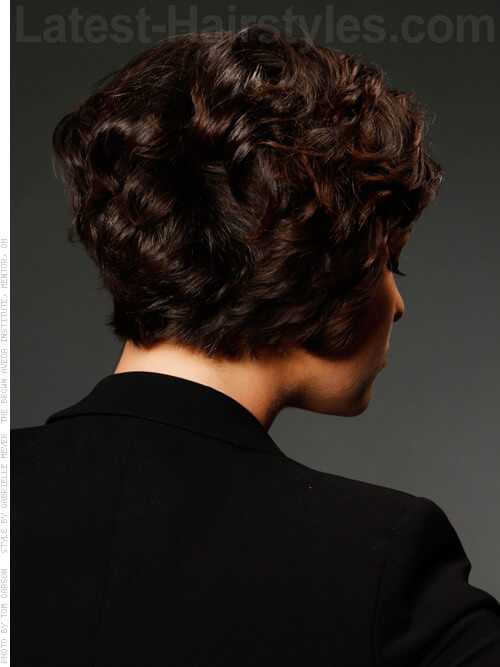 Leisure Locks Shiny Cropped Look With Waves Back View