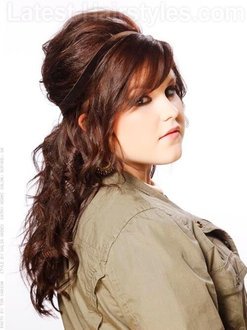 Modern Bouffant Full Wavy Party Hairstyle