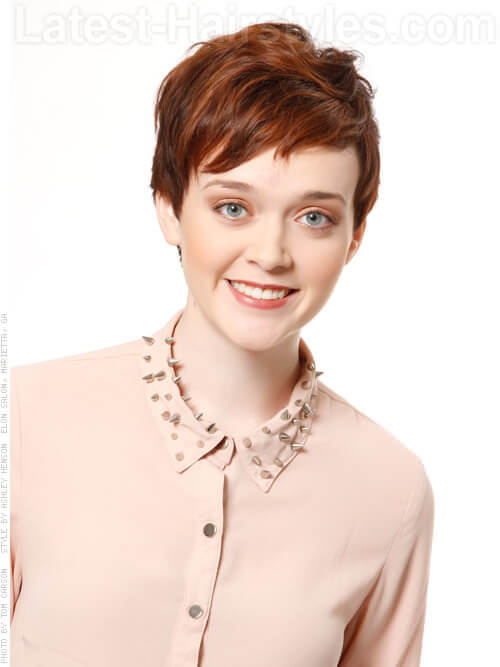 Brunette Pixie Haircuts with Highlights