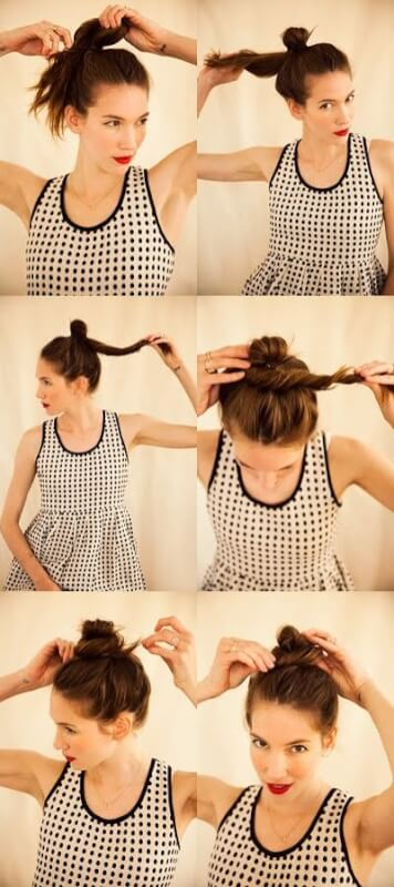 top knot gym hairstyle