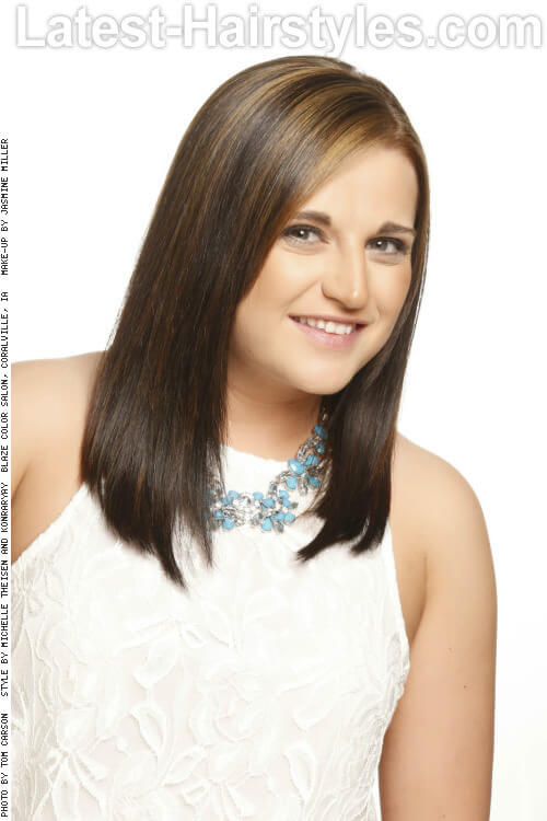 Angled Long Straight Hairstyle