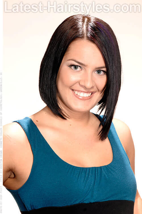 Asymmetric Bob Hairstyle