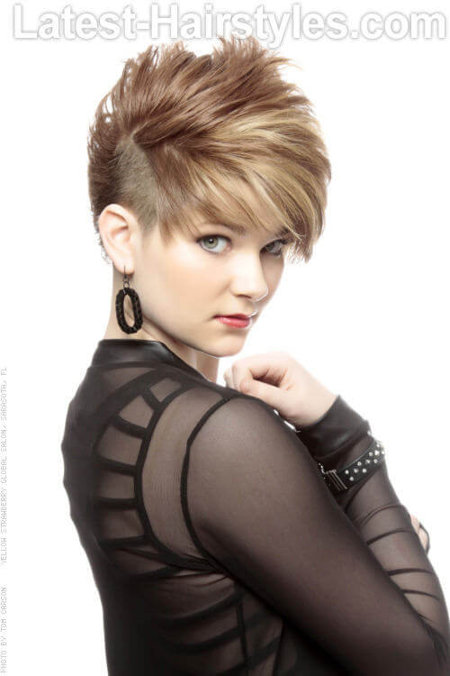 Asymmetric Short Haircut with Texture Side View