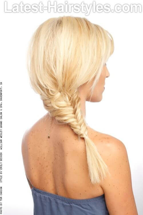 Blonde Fishtail Braid Back