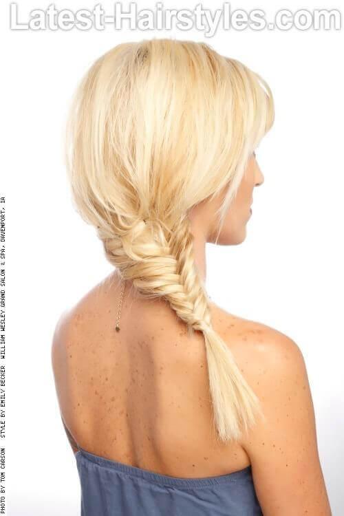 Blonde Fishtail Braid Back